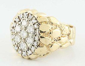 Gents Diamond Nugget Ring 31 3D print model
