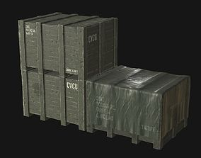 3D model Military Cargo Crates PBR