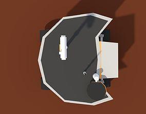 3D asset Low Poly Cartoony Planet Rover 2