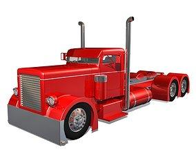 3D semi-truck Hot Rod Semi Truck