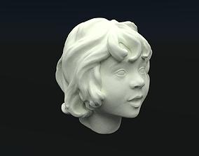 little girls head 3D printable model