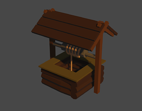 Low-Poly Well 3D printable model