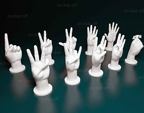 3D printable model ASL English numbers from 1 to 10