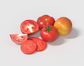healthy 3D model Tomatoes