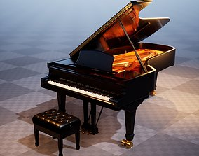 3D asset Grand Piano UE4-Ready