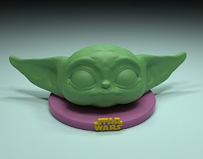 3D printable model YODA BABY phone holder