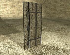 3D asset Wooden Ancient Door