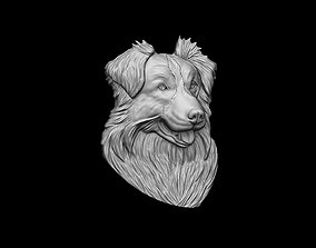Border Collie dog bas relief pendant 3dprint