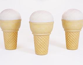 Ice Cream Ball 3D asset