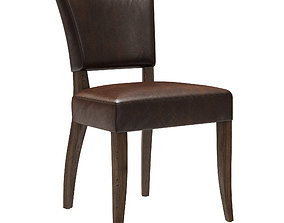 Restoration Hardware Adele Leather Side Chair 3D