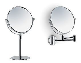Magnifying stand and wall mirrors 3D