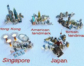 World landmark building 3D model