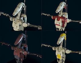 Droid B1 Star Wars 4 skin 3D model