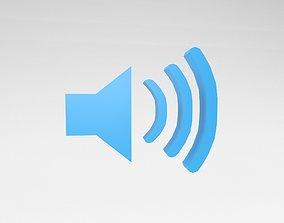 3D asset IOS Speaker Symbol v1 004