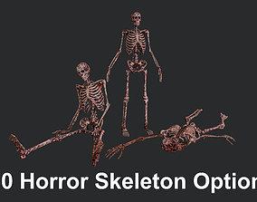 10 Bloody Horror Skeletons 3D asset