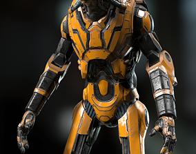 Robot sci-fi 3D asset
