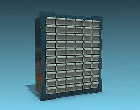 3D model Storage Cabinet Drawers 02