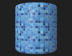 Swimming Pool Floor Mosaic PBR 3D model