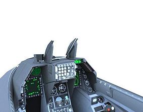 3D model F-16C Cockpit