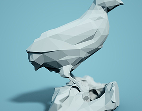 zoology Low Poly Bird Model