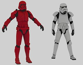 3D asset Imperial Stormtrooper and Sith Trooper