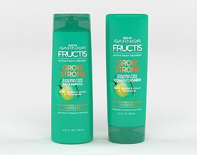 3D Garnier Hair Care Fructis Grow Strong Shampoo
