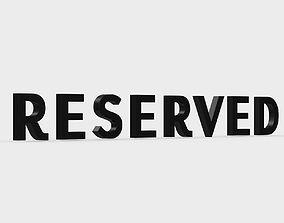 reserved logo 3D