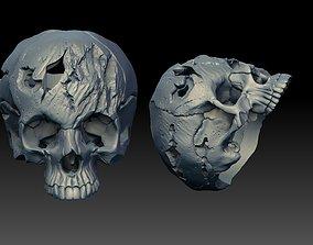 scull ring human 3D print model