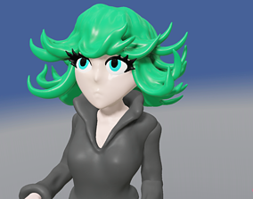 3D model Sexy Tatsumaki from One Punch Man in Skimpy Black