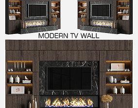 modern tv wall 15 3D model