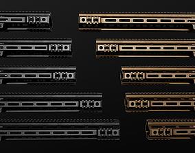 3D model Geissele Super Modular Rail MK4 MLOK AR15