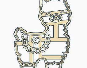 Llama Cookie Cutter 3D printable model