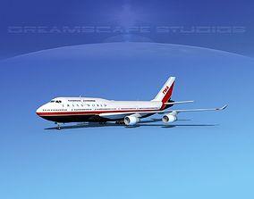 3D model Boeing 747-400 TWA 2