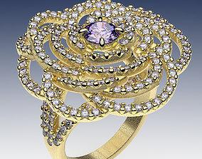 3D print model Ring Petals