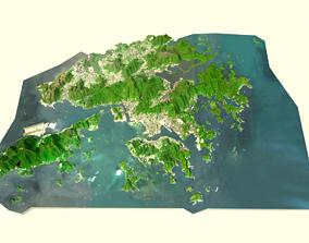 HONGKONG digital Terrain model landscape 3D model