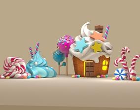 3d sweet cake house icecream sugar cute