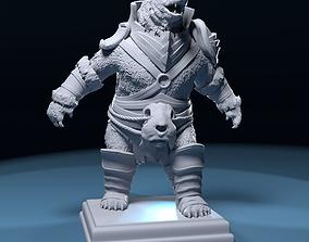 3D print model Polar bear warrior