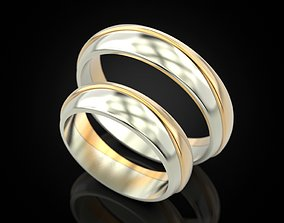 Wedding ring 80 3D printable model