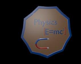 Low poly physics 3D asset