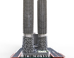 Marina city Goldberg Chicago 3D asset