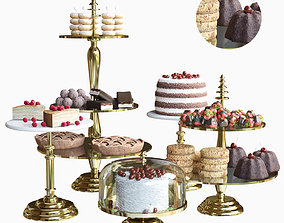 cake Sweets set 3D model