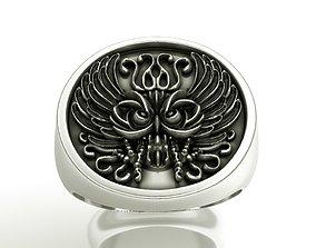 Owl ring 3D printable model zbrush