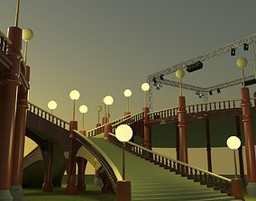 Stairs 3D rigged