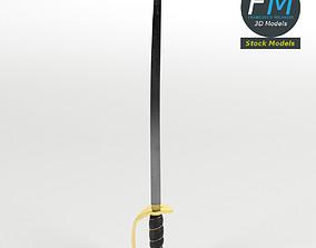 3D model PBR Caribbean pirate sword