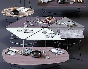 Ditre Italia Coffee Tables Set 02 3D model