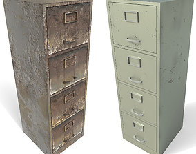 3D model File cabinet - PBR Game-Ready