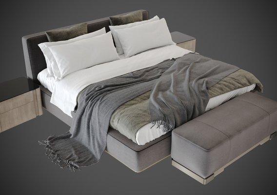 3d models from the Bedroom silver bor scene vol 1