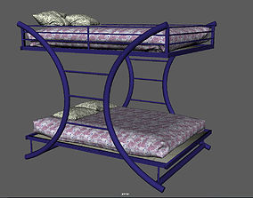 teens 3D model bunk bed