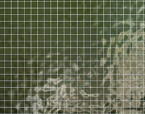 Tiles set Geometry Pattern Green - Square 3D