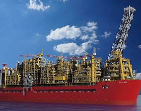 Shell prelude FLNG 3D